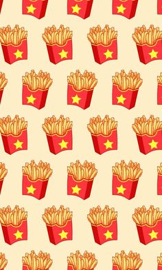Burger clipart wallpaper French pattern Paper Co fry