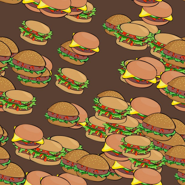 Burger clipart wallpaper Burger Tile  Stock Pictures