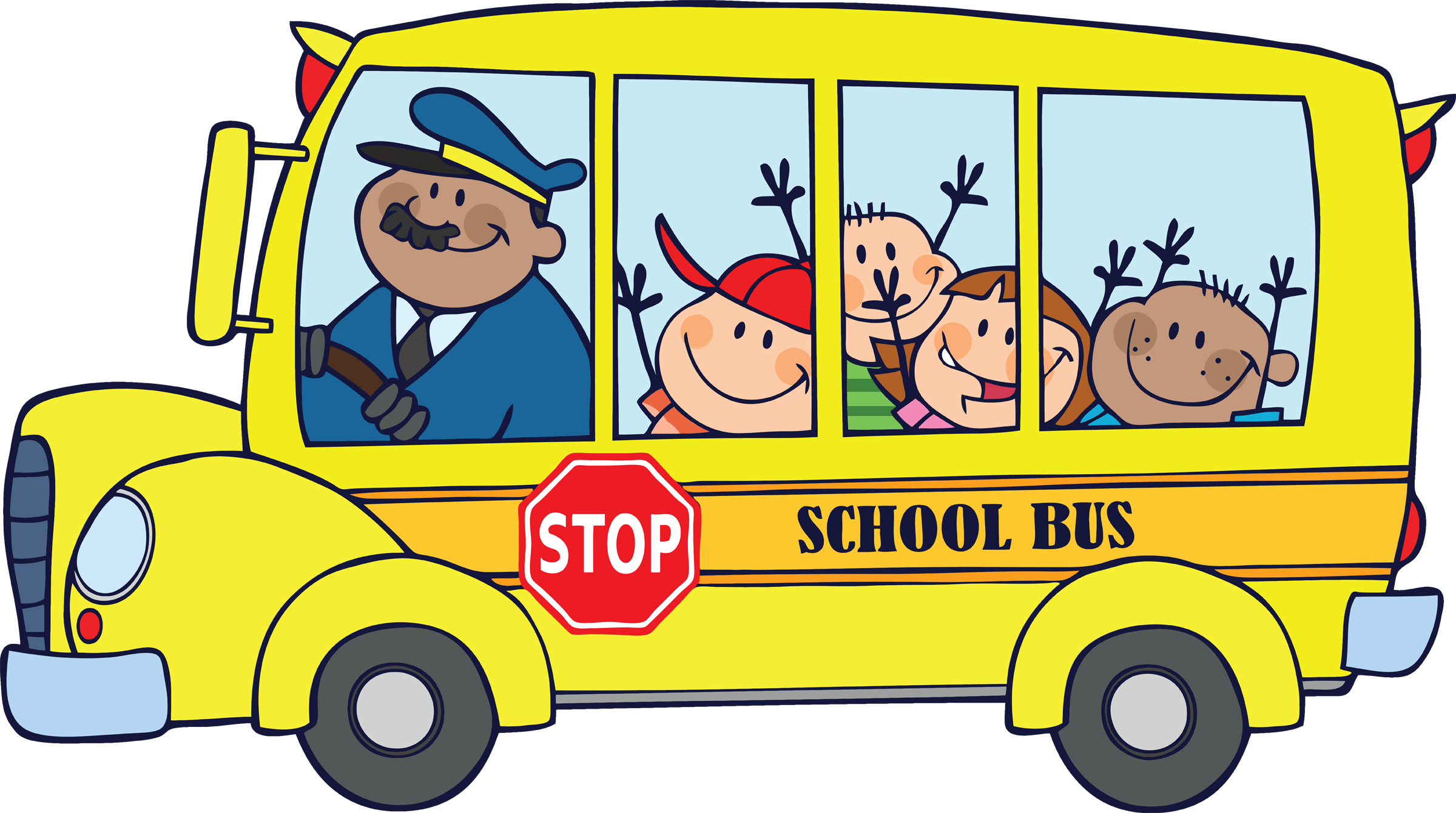 Bus clipart School kids for Cliparting Back