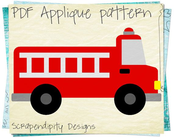 Fire Truck clipart simple Items Applique best Nursery /