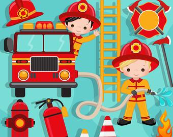 Bus clipart firefighter Bus Fire fire Clipart Cute