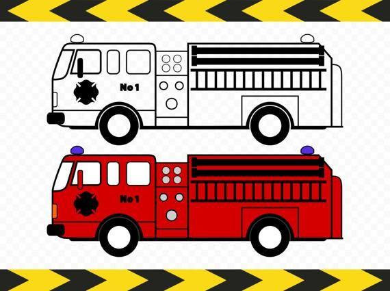 Bus clipart firefighter Fire decal Clipart Firefighter Pinterest