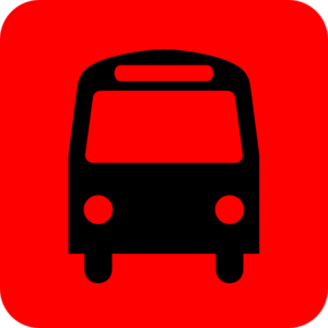 Bus clipart red bus Station Station Icon art