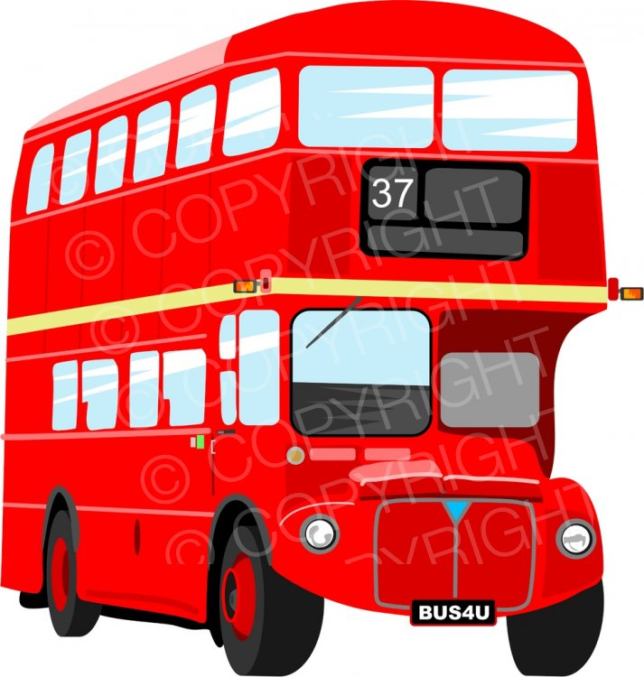 Bus clipart red bus Art London Double Prawny