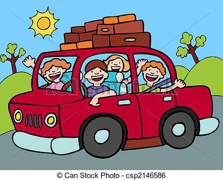 Blue Car clipart car ride A  Family Road with