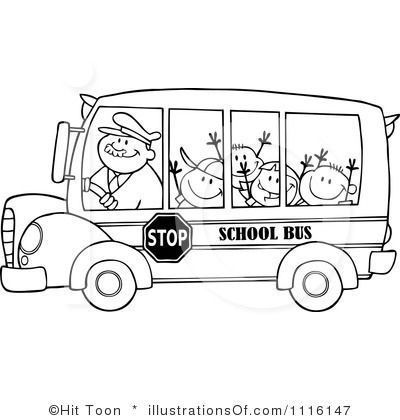 Bus clipart school camp 15 Toon (RF) images Illustration