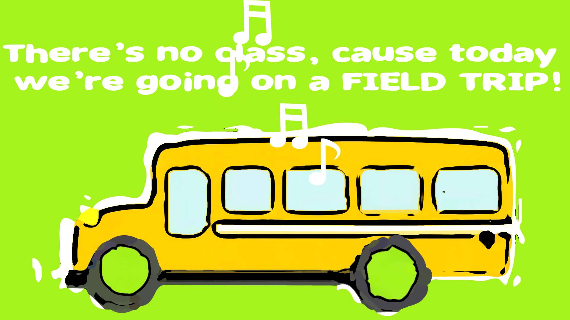 Bus clipart school outing TRIP  ANIMATION Children's Fun