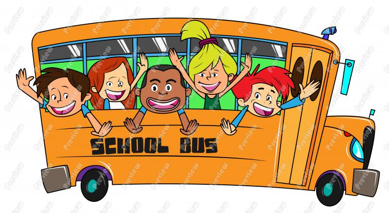 Bus clipart school outing On summer Clip on Children