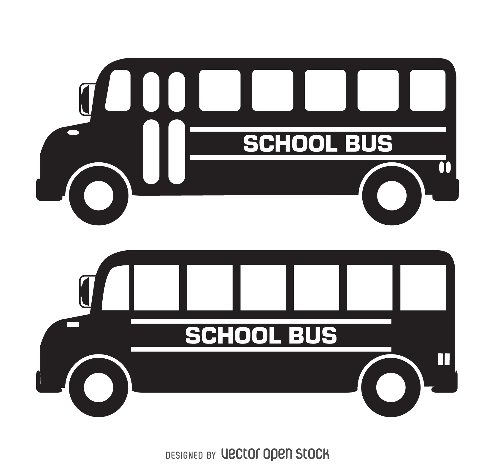 Bus clipart silhouette School silhouette Clipart Vector collection