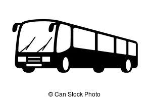 Bus clipart silhouette On silhouette Search bus of