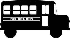 Bus clipart silhouette In bus School school white