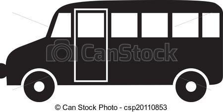 Bus clipart silhouette Silhouette Bus white of Vector