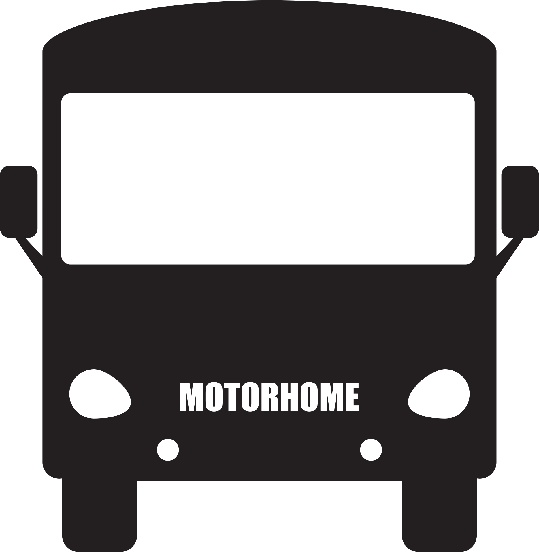 Bus clipart silhouette Silhouette Motorhome Clipart Silhouette Motorhome