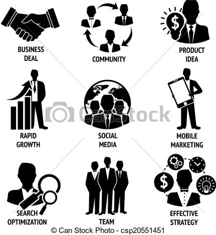 Business clipart black and white #7