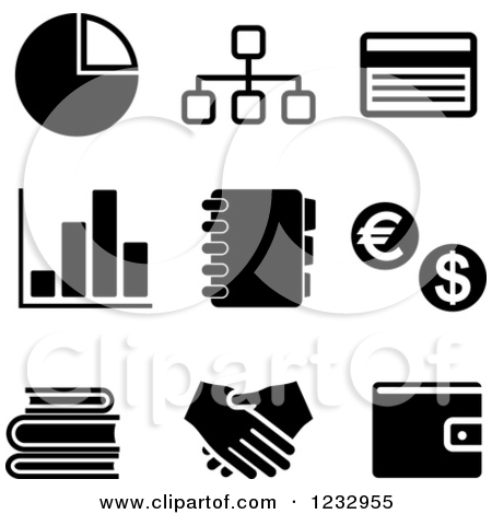 Business clipart black and white #13
