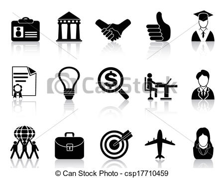 Business clipart black and white #11