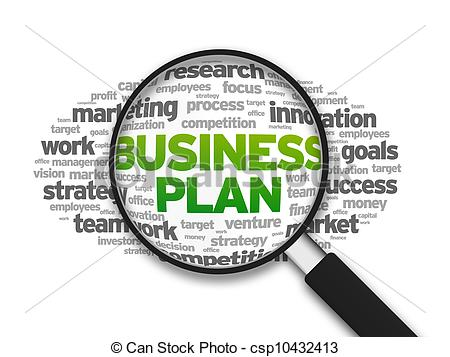 Business clipart business plan Business Plan illustration Magnified the