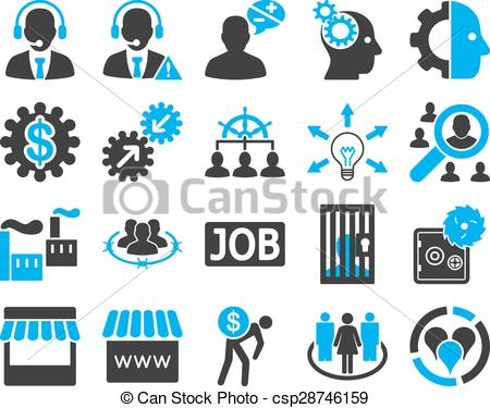 Business clipart business service Service management Vector management icons