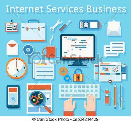Business clipart business service Of Internet csp24244429 Business Service