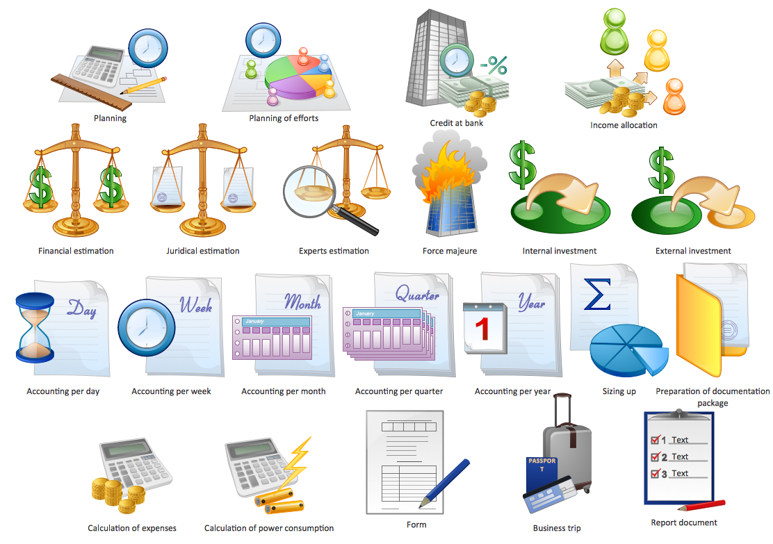 Business clipart consumption — Management Design ConceptDraw and