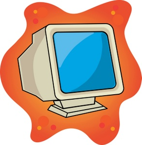 Screen clipart cartoon A for for Monitor CRT
