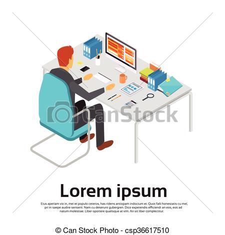 Business clipart desktop Desktop Man Business Vector Computer