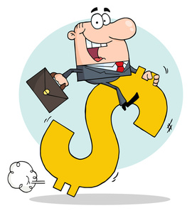 Business clipart dollar  image clipart riding a