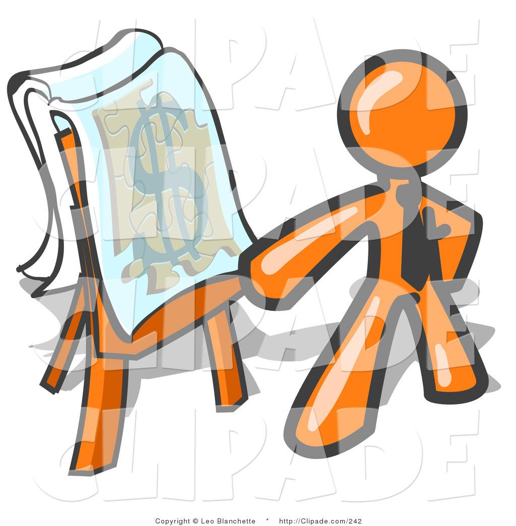 Business clipart dollar Standing Businessman Dollar an a