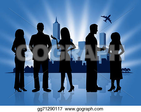 Business clipart downtown Downtown  people Cityscape Business