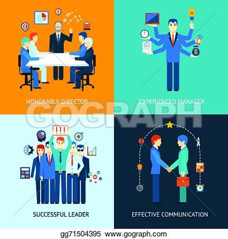Advertisement clipart effective communication Stock director Clip man leader