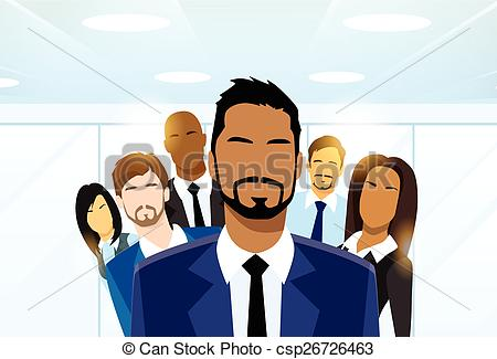 Business clipart group leader Diverse Diverse Vector Team Leader