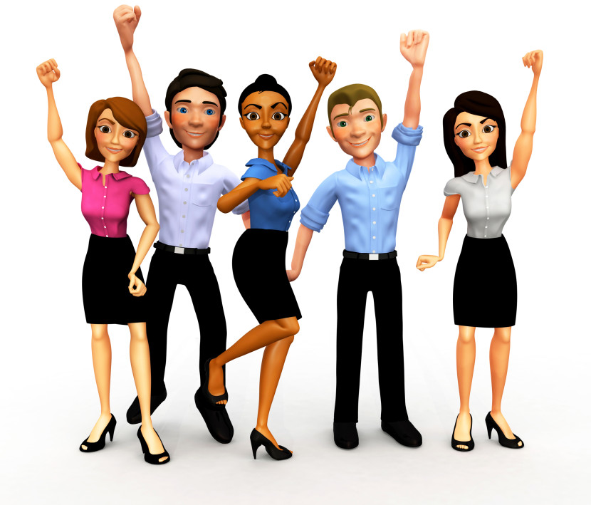 Business clipart group person Clipart People Free Group Happy