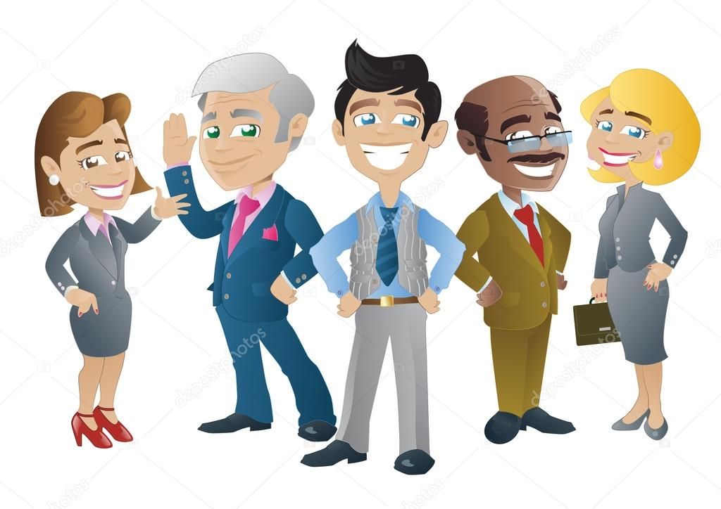 Business clipart group person Pose of stood together Group