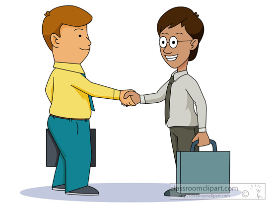 Business clipart hand shaking Shaking men : shaking men