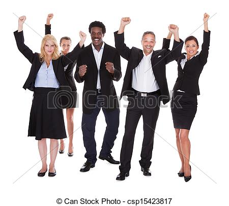 Business clipart happy person Business People Multi Group People