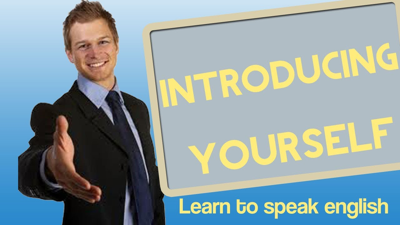 Business clipart introduce yourself Yourself  Introducing speak Learn