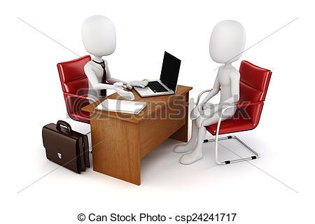 Business clipart job interview  3d Job interview business