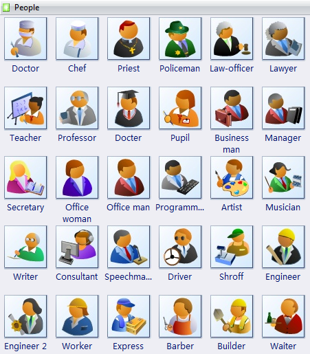 Other clipart different person People Vector Art Free Download