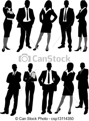 Business clipart royalty free Business people Vector men of
