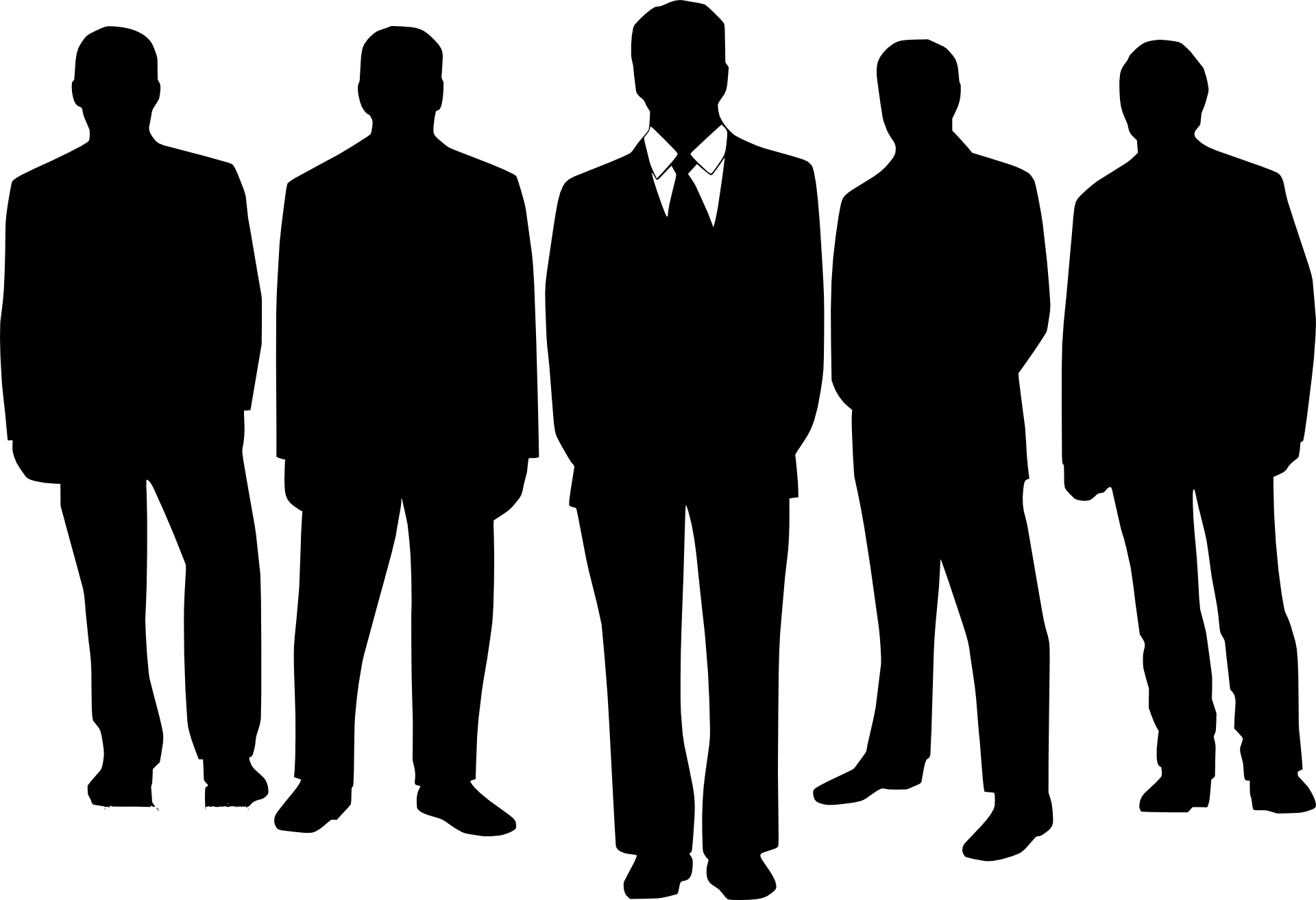 Shaow clipart business person People Art Free Clip Silhouette