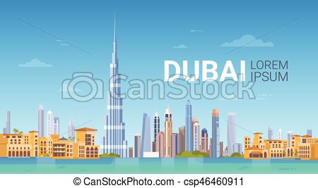 Business clipart skyline Building Skyline And of Dubai
