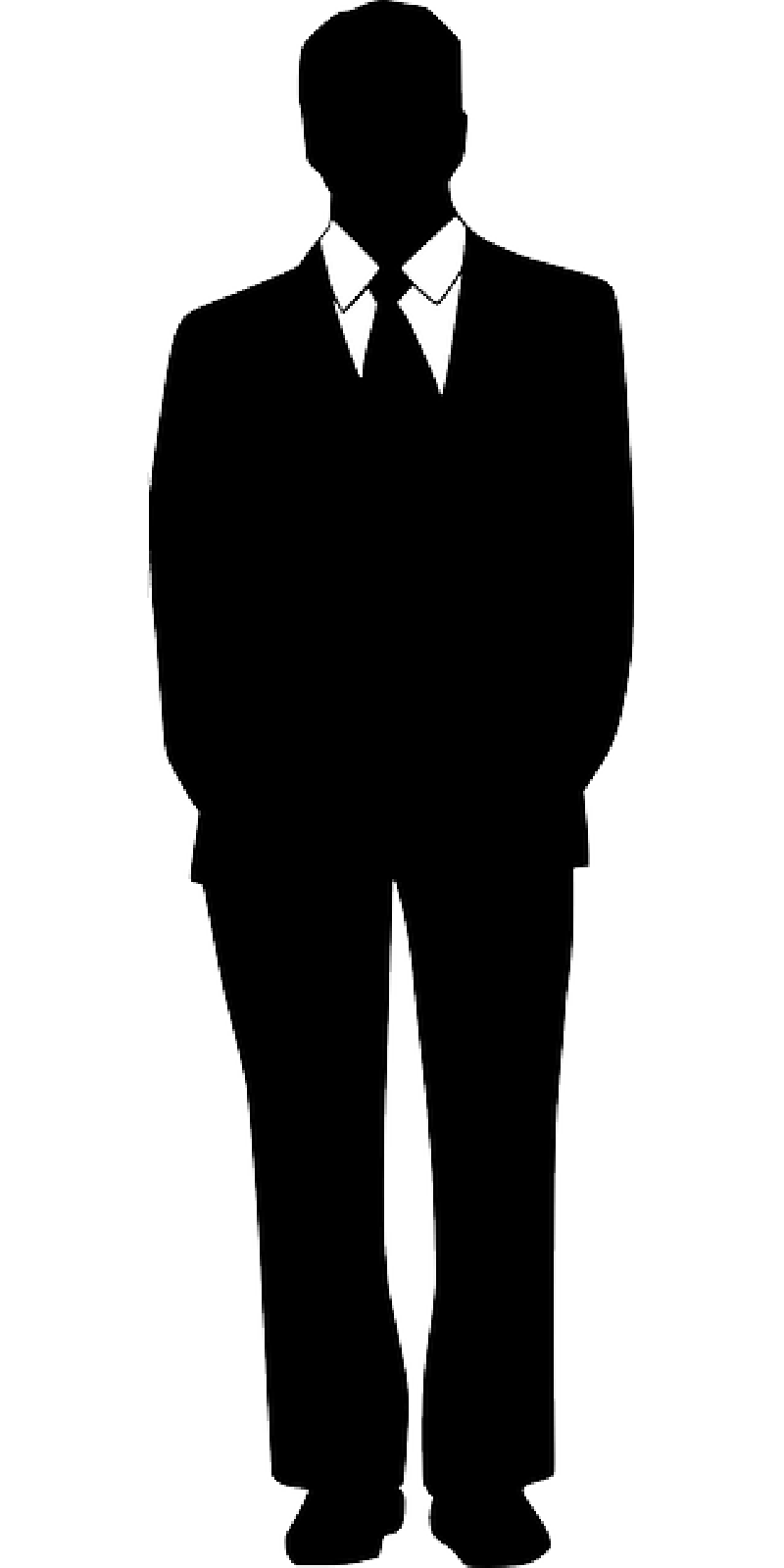 Suit clipart business suit  Silhouette Collection Pictures A