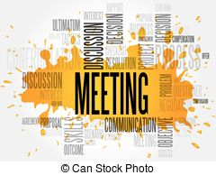 Culture clipart business meeting Word Meeting clip Stock Illustrations