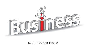 Word clipart business  Vector