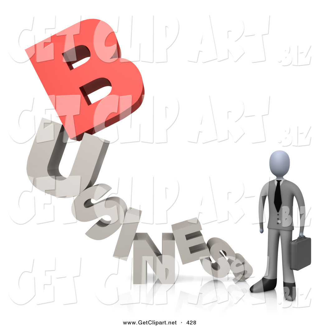 Business clipart word Briefcase a a Clip Businessperson