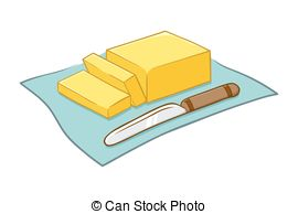 Butter clipart cheese slice Illustration Vector Butter Illustration of