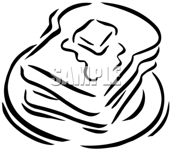Bread clipart toasted bread And Black White Butter White