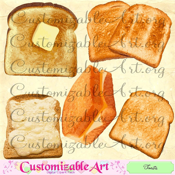 Bread clipart toasted bread Toast Clipart Cheese  Spread