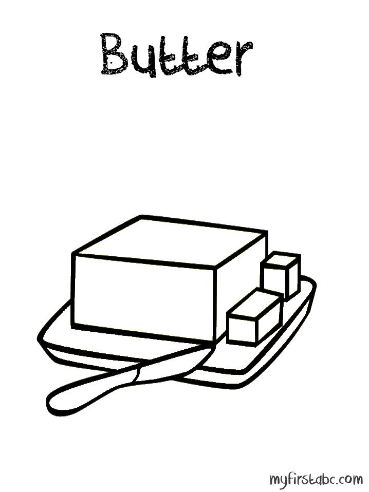 Butter clipart coloring Zaa Butter