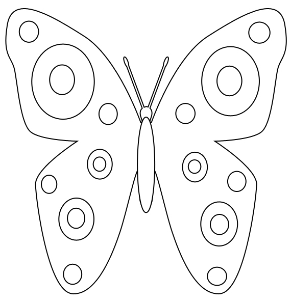Butter clipart coloring Coloring Butterfly by Spring Page